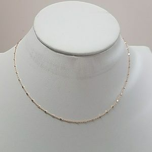 Jewelry - 14k Yellow Gold plated Chain 16 to 18 inches